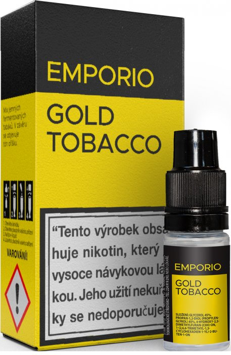 10ml Liquid EMPORIO Gold Tobacco - tabák, oriešky