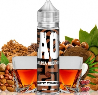 Príchuť ALPHA ORIGINS SHAKE AND VAPE NUTTY TOBACCO 15ML